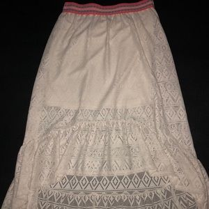 White Laced Long Skirt